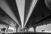 Urban Highway Under Automotive Bridges