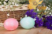 Colored Easter Egg Closeup