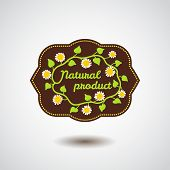Natural product emblem with flower