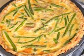 Freshly Baked Quiche With Green Beans And Chicken