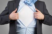 Businessman Open His Shirt