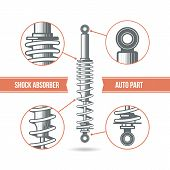 Car Shock Absorber Icon
