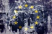 European Union flag on grunge wall