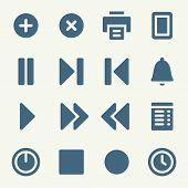 Media player web icons set