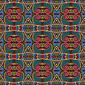 seamless geometry vintage pattern, ethnic style