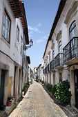 Preserved Medieval Street In The Town Of Tomar
