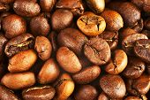 Natural Background From Roasted Coffee Beans.
