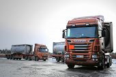 Scania R500 And Volvo FH Tank Trucks Haul Flammable Goods