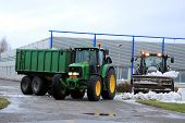 Winter Snow Removal With John Deere And Valtra Tractors