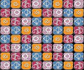 Pattern With Squares And Fish
