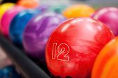 image of bowling ball  - Close - JPG
