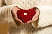 Closeup Photo Of Woman Holding Heart In Hands