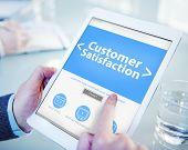 Business Online Customer Satisfaction Working Concept
