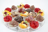 Variations Of Small Cakes With With Different Stuffing
