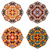 Set Of Round Ethnic Design Elements