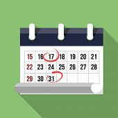 Red circle. Mark on the calendar