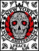 Skull New York Fun Man T shirt Graphic Design