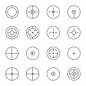set of different types  crosshair