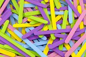 Colorful Scattered Popsicle Sticks