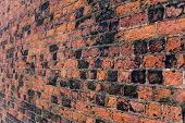 Old Brick Wall on Angle