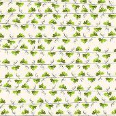 Green leaf vine repeat background.