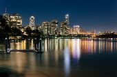 stock photo of cbd  - Modern Australian city at night  - JPG
