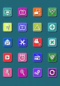 20 web media icons buttons.eps