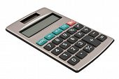 stock photo of solar battery  - A calculator with an autonomous power supply from the solar battery - JPG