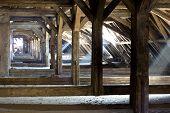 old attic of a house, hidden secrets