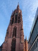 pic of frankfurt am main  - Frankfurt am Main, Germany - view to the Frakfurt Cathedral from outside. This is a beautiful gothic church which is located in the city centre.