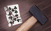 Hammer With A Broken Card, Ten Of Clubs