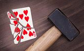 Hammer With A Broken Card, Ten Of Hearts