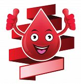 Cartoon smiling blood banner