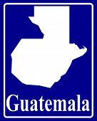 Silhouette Map Of Guatemala