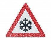 Winter Driving - Ice Covered Warning Sign - Caution Snow