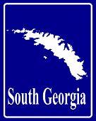 Silhouette Map Of South Georgia