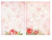 stock photo of shabby chic  - Shabby chic backgrounds with roses - JPG