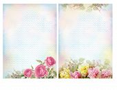 pic of decoupage  - Shabby chic backgrounds with roses - JPG