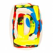 Colorful Handmade Of White Clay Letter D