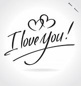 I LOVE YOU hand lettering (vector)