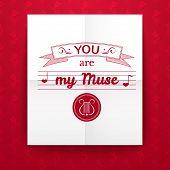 Valentine's Day typography, vector illustration