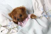 Cute Teddy Bear In Pink Pyjama