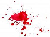 Blots Of Red Paint