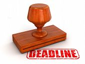 Rubber Stamp Deadline (clipping path included)