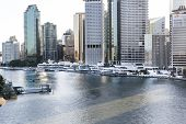 Brisbane Riverside and Eagle Street Pier cityscape