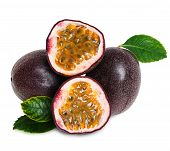 foto of passion fruit  - Passion fruit on a white background for your design - JPG