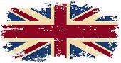 British grunge flag. Vector illustration.
