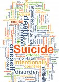 pic of suicide  - Background concept wordcloud illustration of suicide - JPG