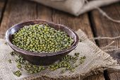 picture of mung beans  - Portion of dried Mung Beans  - JPG