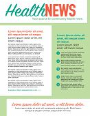 foto of newsletter  - Page layout newsletter for use with business or nonprofit - JPG